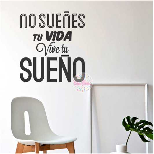 Frases de pared 39 frases - Pegatinas para decorar paredes ...